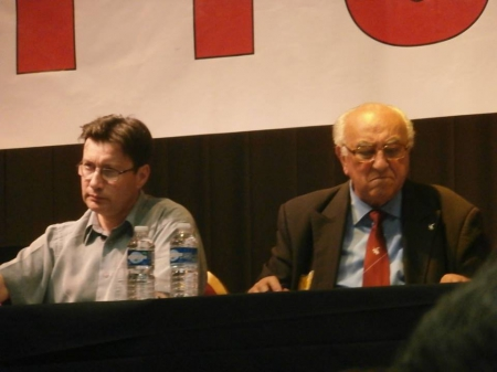 Luc Pécharman et Roger Holeindre
