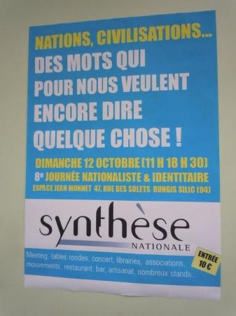 12 octobre 2014 : 8e Journée nationale et identitaire